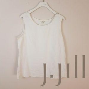 J. Jill | White Linen Tank [Tops]